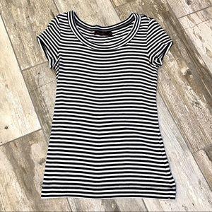 The Limited Stripe Tee Top Black White Chic Tshirt